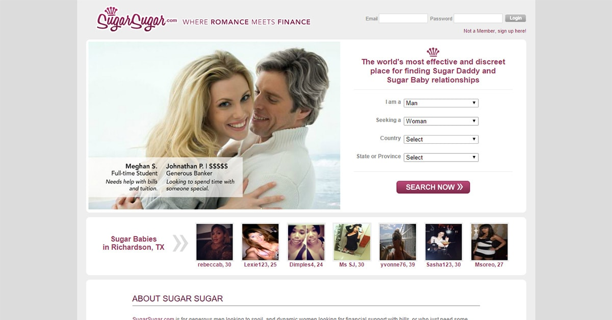 Free dating site sugar daddy in the usa